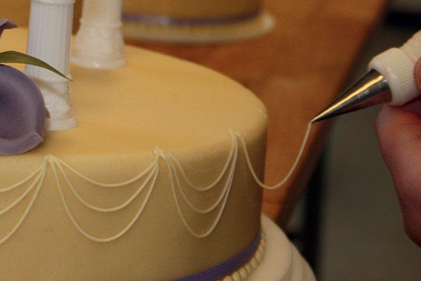 Bryllupskage-dekoration
