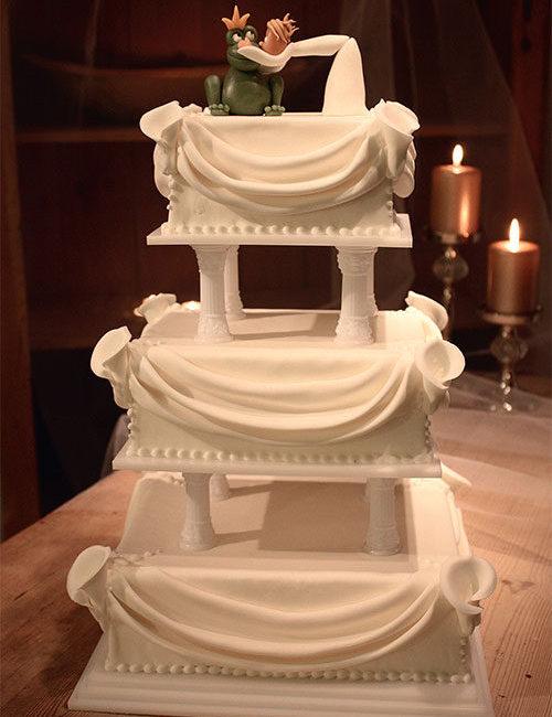 Eventyr-bryllupskage