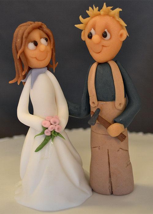Kagefigur-brudepar