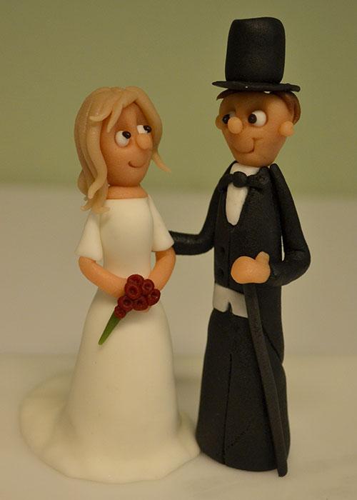 Topfigur-bryllupskage