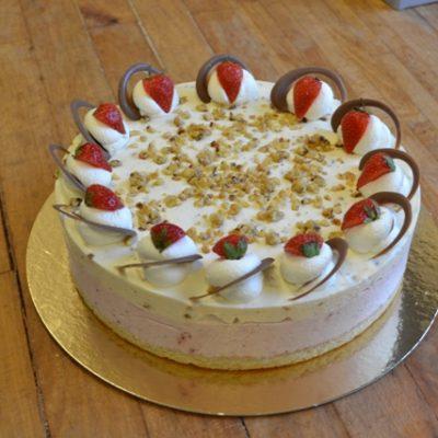 Sommer dessertlagkage 15 personer