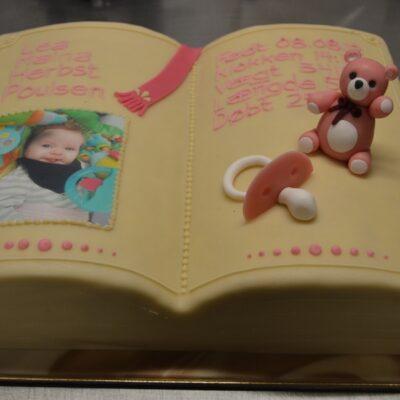 dåbsbog i kage