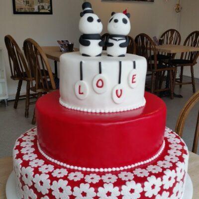 Panda brudepar