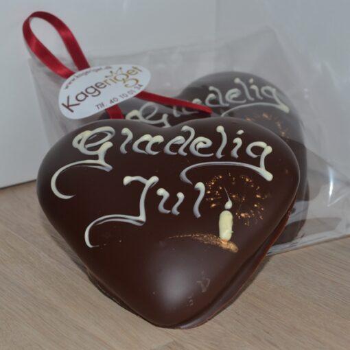Honninghjerte med chokolade