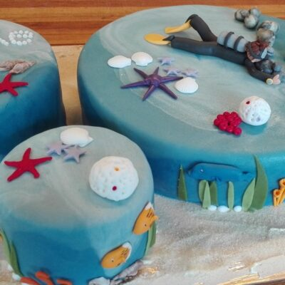 Fødselsdagskage havtema