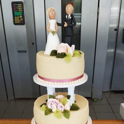 Bryllupskage brudepar