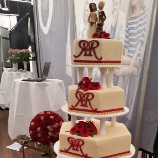 Bryllupskage med monogram