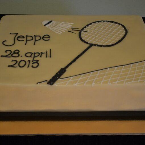 Badminton konfirmationskage