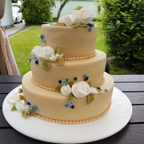 Bryllupskage elegant
