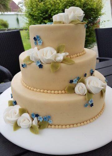 Bryllupskage-elegant